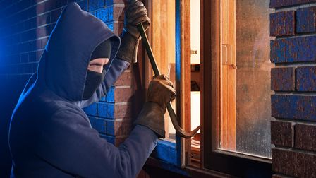 Burglars broke into two homes within an hour and made off with jewellery after assaulting the occupa