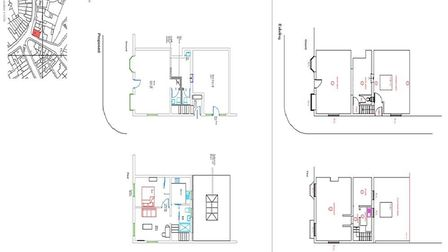 Plans submitted by Brooks Architects Ltd to East Suffolk Council show provisional layout proposals f