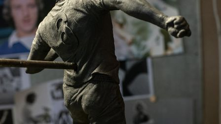 Maquette of the Kevin Beattie statue by Sean Hedges Quinn Picture: SARAH LUCY BROWN