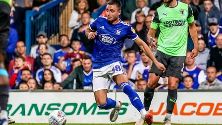Anthony Georgiou made his debut against Wimbledon. Picture: STEVE WALLER