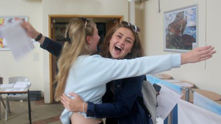 Clacton County High School GCSE results day Picture: CLACTON HIGH SCHOOL