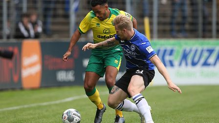 Young Norwich star Louis Thompson is on loan at Shrewsbury. Picture: PAUL CHESTERTON/FOCUS IMAGES