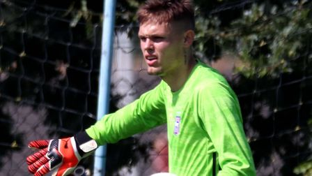 Harry Wright pictured during Town U23s 1-0 defeat against Leeds United Picture: ROSS HALLS