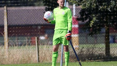 Harry Wright pictured during Town U23s 1-0 defeat to Leeds United Picture: ROSS HALLS