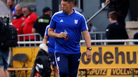 Town goalkeeper coach Jimmy Walker pictured during the first pre-season game against Paderborn Pictu