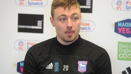 Freddie Sears speaks to the media ahead of the East Anglian Derby at Carrow Road Picture: ROSS HALLS
