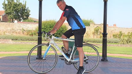 Mr Balchin is raring to go for his cycle challenge through northern France in aid of SSAFA. Picture:
