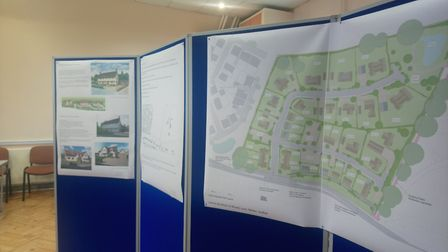 Plans for the new homes were displayed during a consultation in February Picture: ARCHANT