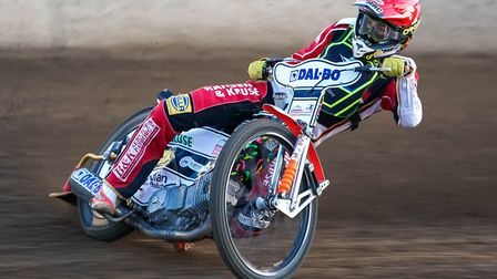 Niels-Kristian Iversen on his way to victory in the opening heat. Picture: Steve Waller www.st