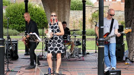 The Brackish Edge were one of many bands performing on the main stage in Elmhurst Park. Picture: KEV