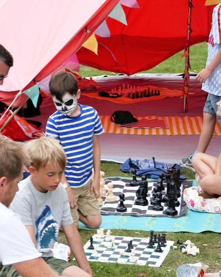 Children enjoyed face painting and playing games at the festival which provided lots of entertainmen