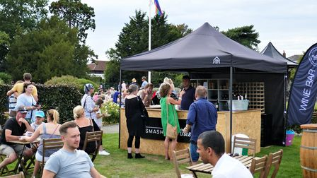 There was an array of food and drink on offer provided by local restaurants, bars and breweries. Pic