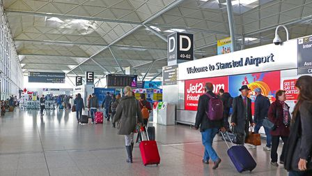 Passengers at the terminal concourse at Stansted Airport Picture: LUCY MARTIN