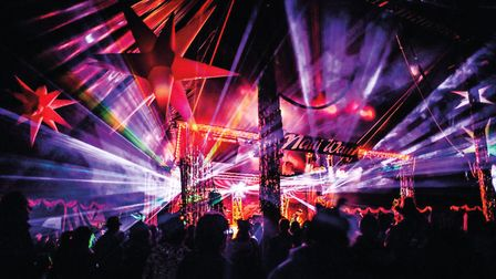 Night time at Maui Waui Festival which offers a unique blend of music, circus and cabaret Photo: Jer