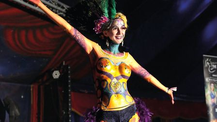 The Living Art Parade at Maui Waui Festival which offers a unique blend of music, circus and cabaret