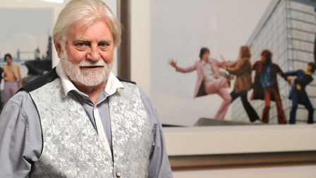 Former Sunday Times photograpy Tom Allen with his photographs of The Beatles Picture: SARAH LUCY BR