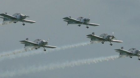 Team Raven performing at the Clacton Airshow. Picture: TDC