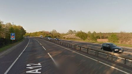 Three vehicles were involved in a collision on the A12 this morning causing severe delays. Picture: