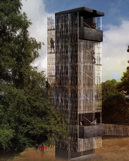 How the new viewing tower at Sutton Hoo will look Picture: NISSEN RICHARDS STUDIOS