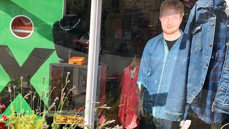Ed Sheeran has donated 300 items of clothing to the St Elizabeth Hospice charity shop in Framlingham