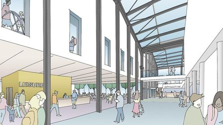 An artist impression of what the new Western Way public services hub could look like. Picture: WEST