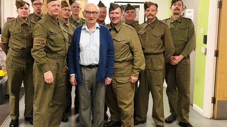 The Khaki Chums with Gordon Peters who played the policeman in the original fliming of A Stripe for