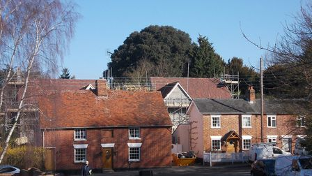 Residents are concerned about the height of six homes in Bures Picture: JAMES FREWIN