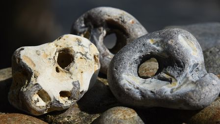 It is said that these strange stones protect your home from evil spirits? Picture: DENISE BRADLEY