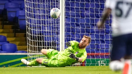 Will Norris makes a fine second half save. Picture: Steve Waller www.stephenwaller.com