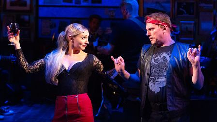 Kate Robson-Stuart as Reza and Sean Kingsley as Billy in the New Wolsey Theatre's production of Once
