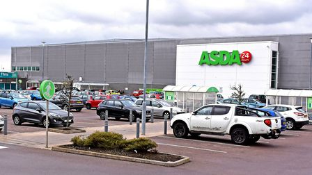 The Asda store in Lowestoft, where GMB union members will be protesting against new contracts which