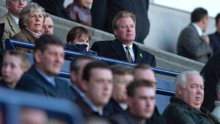 Then-Ipswich chairman David Sheepshanks watches from the stands as Town slump to a 4-1 defeat at Bot
