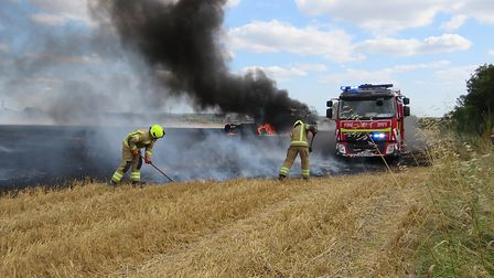 Dramatic pictures of the blaze in Glemsford Picture: Terry Howe