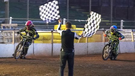 Richard Lawson and Edward Kennett take the chequered flags for a 5-1 for the Witches against Peterbo