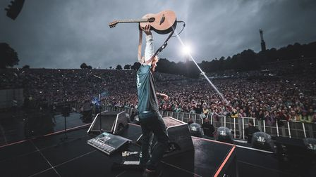 Ed Sheeran at Roundhay Park in Leeds Picture: Zakary Walters