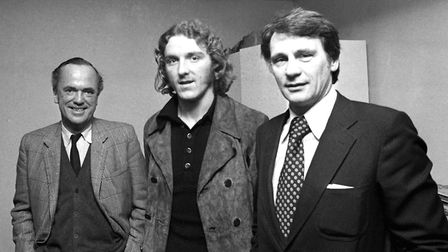 John Cobbold, Kevin Beattie and Bobby Robson in December 1974 Picture: Archant
