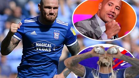 Ipswich Town striker James Norwood's goal celebrations have caught the attention of WWE and The Rock