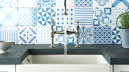 Geometric designs create a dazzling focal point in any room. Picture: The Tile Gallery