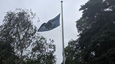 The Suffolk police flag, which is being flown at half-mast Picture: SUFFOLK CONSTABULARY