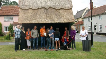 The bus stop in Bramfield, where the shelter was recently rethatched. Picture: ANDREW NIVEN