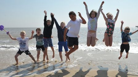 Children enjoying the hot weather in Felixstowe Picture: SARAH LUCY BROWN