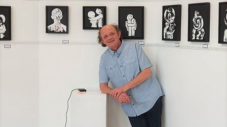 Chris Newson has been guided by Maggi Hambling on his artistic voyage which continues to soar. Pictu