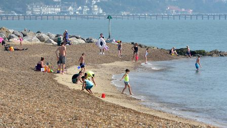 People flocked to the beach in Felixstowe to soak up the sun Picture: SARAH LUCY BROWN