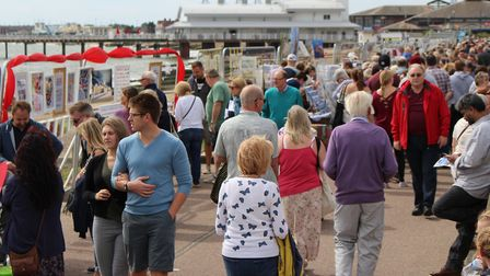 Thousands of people are due to descend on Felixstowe seafront for Art on the Prom Picture: BARRY PEA