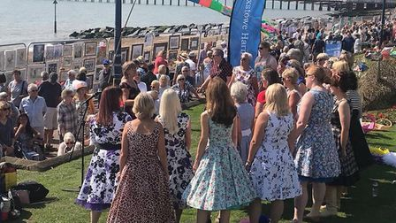 The Felixstowe Harmonies at Art on the Prom 2018 Picture: ART ON THE PROM