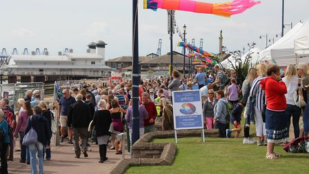 More than 20,000 people are expected at Felixstowe's Art on the Prom Picture: ART ON THE PROM