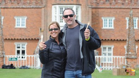 Heidi and Simon Bellamy ready for Walk With A Fork. Picture: SARAH LUCY BROWN