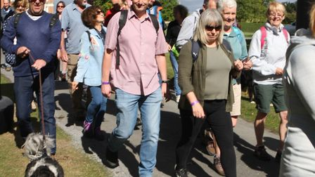 Walk with a Fork on Sunday at Helmingham Hall Walkers set off on their 8 mile walk around Suffolk