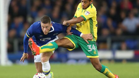 Norwich City's Louis Thompson (right) is also on loan at Shrewsbury. Photo: PA