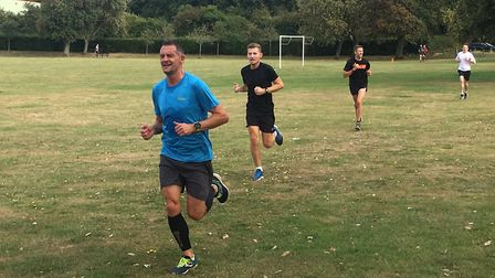 Runners feel the pain as they approach the finish to last weekend's Sloughbottom parkrun. Picture: C